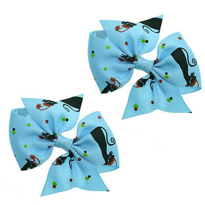 3 Inch Boutique Hair Bows For Baby Girls And Toddlers (One Pair)