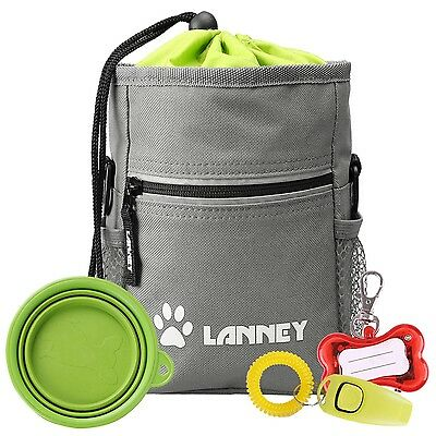 Premium Dog Training Treat Pouch Pet Treat Bag with Bonus Clicker / Silicon D...