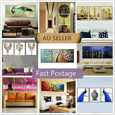 Set of Three Painting By Numbers Kit 3*50*40cm Home Decor F3P001010 DIY AU STOCK