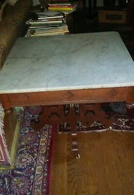 Impressive Antique Ornate Marble Top Table Beautiful Victorian