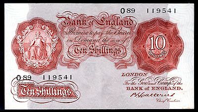 Catterns. Ten Shillings, O89 119541, (1930), B223, Very Fine - Extremely Fine.