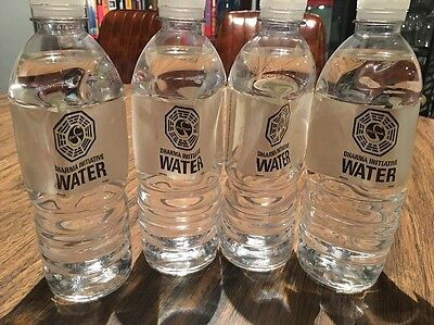 LOST ABC TV Show Prop - Dharma Initiative Bottle of Water Lot Of 4 - Swan Hatch