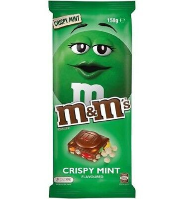 M&M's Crispy Mint Block 150g x 13