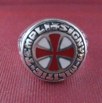 Sterling silver Knight Templar ring - 23991