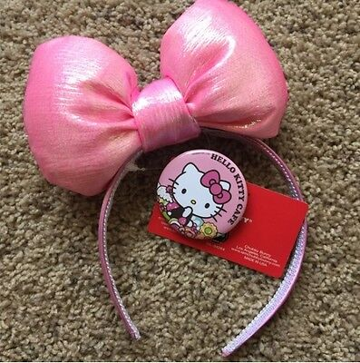Chubby Bunny Hello Kitty Cafe Bow Pink Headband Sanrio Limited Edition NWT