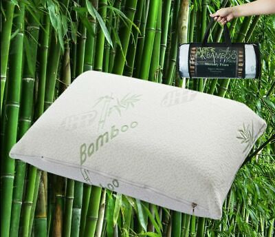 1x, 2xBamboo Pillow Memory Foam Fabric Fibre Bamboo Cover 70 x 40cm
