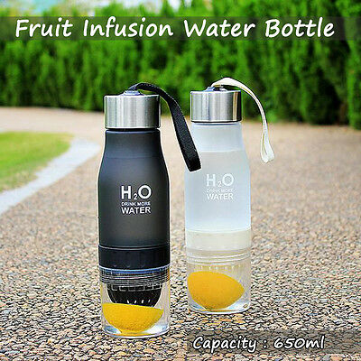 650 ml Fruit Infuser Water Bottle Free Sport Outdoor Juice Infusing Infusion