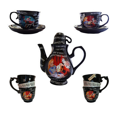 Disney Parks Alice in Wonderland Time For Tea Mad Tea Party Teapot Gift Set NEW