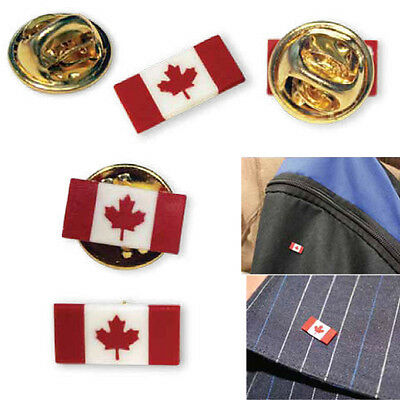 Vintage Mini Canada Flag Maple Leaf  Pin Badge Tie / Hat Pin (Buy 5 get 1 FREE)