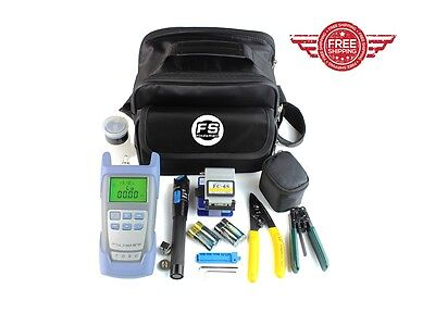 USA Fastshipping NEW FTTH Tool Kit FC-6S Cleaver/Optical Power Meter/5KM VFL