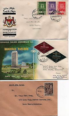 MALAYSIA - 3x FDC's - 1951, 1959 and 1963