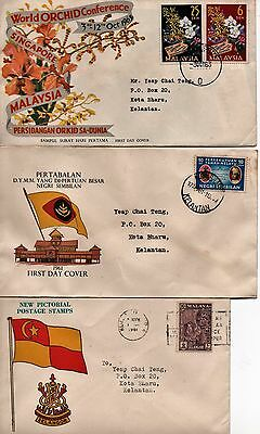 MALAYSIA - 3x FDC's - from 1961 and 1963