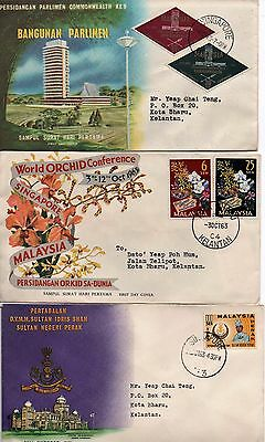 MALAYSIA - 3x FDC's - from 1963