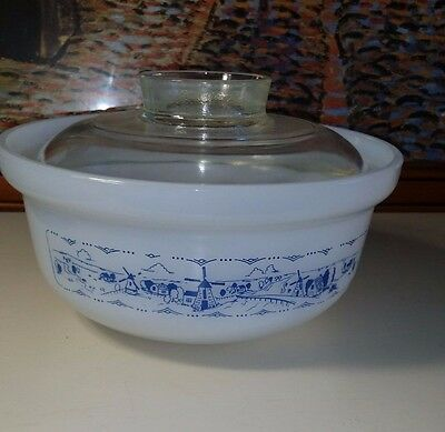 Crown Round Glass Casserole Dish with Lid