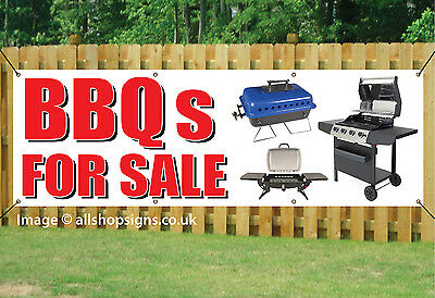 BBQs FOR SALE BARBECUE ON SALE BANNER SIGN waterproof PVC with Eyelets 006