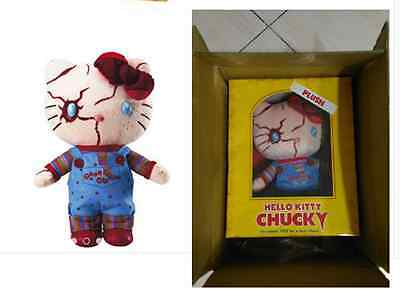 "USJ New Halloween Hello Kitty X CHUCKY Special Edition Plush Doll 12"" W/T Box"