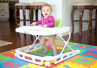 Baby Walker Activity Toddler Safety Walk Toy Adjustable Gray Seat Play Learning