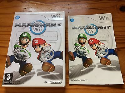 Nintendo Wii MARIOKART - box and instruction manual only - no game