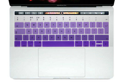 433980c9025 UK Keyboard Cover Silicone Skin Protector For Mac New Pro 13 15 With Touch  Bar