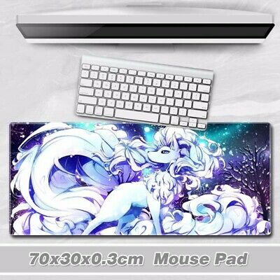 Anime Pokemon Alola Ninetales Huge Mouse Pad Game Mat Laptop Desktop Playmat Hot