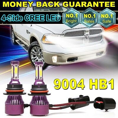 2× CREE 9004 HB1 980W LED Headlight Kit High/Low Dual Beam Lamp Bulb 6000K White