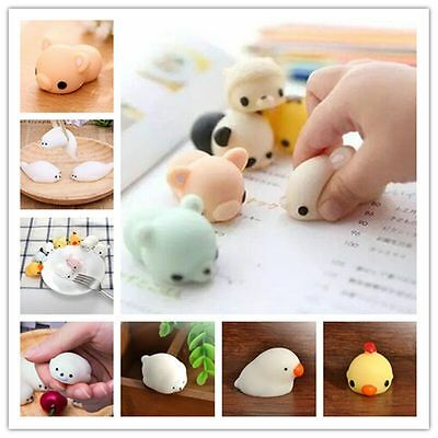 Funny Mochi Mini Soft Animal Squeeze Stretch Compress Decompression Toy