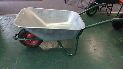 Builders Galvanised Wheelbarrow 100L
