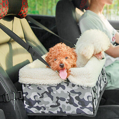 Puppy Pet Carrier Foldable Car Safety Seat Travel Bag for Small Dog Cat UK Stock
