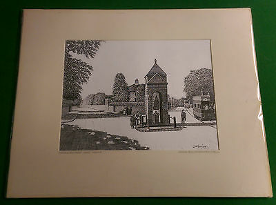 Ipswich & Newmarket Roads Norwich Original Pen & Ink Drawing J. A. Gowing
