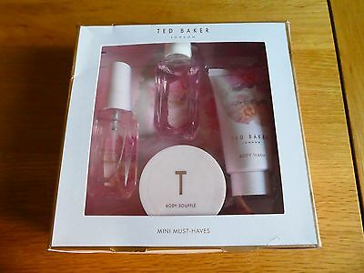 💜 Ted Baker 💜 Pink Full Bloom 💜Mini Must Haves Spray Bubble Bath Wash Souffle