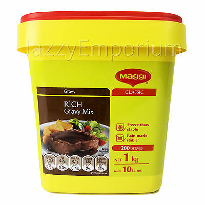 Maggi Gravy Maggi Rich Classic Gravy Mix 1kg Containers Tubs Instant Made in NZ