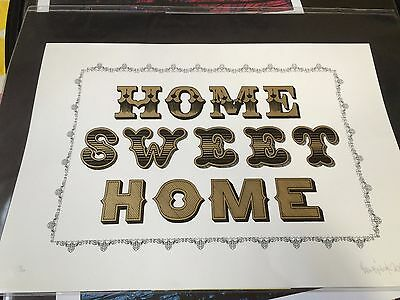 HOME SWEET HOME signed by artist BEN EINE - Art print Urban Street edition of 50