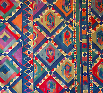 vintage 1980s Collier Campbell Kasbah Moroccan geometric print cotton fabric