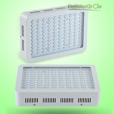2pcs PopuparGrow 300W LED Grow Light Full Spectrum Greenhouse Hydroponic System
