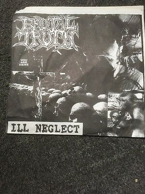 "BRUTAL TRUTH I'll Neglect RARE 7"" Vinyl 1992 EARACHE Ltd"