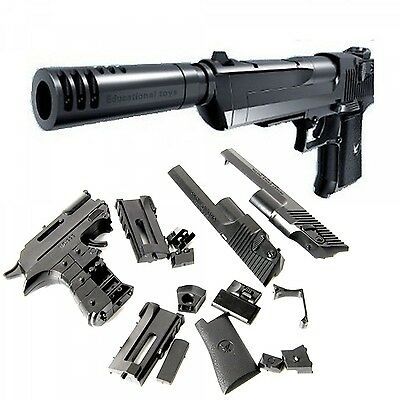 Building Blocks Pistol Model Assembling Desert Eagle Kid Toy Children Gun Cosply