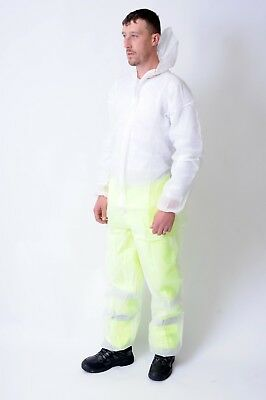 Disposable White Coverall Polypropylene or Blue Boiler suit Overall Lab coat