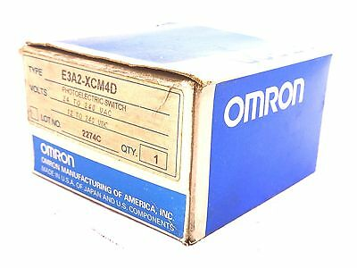 New Omron E3A2-Xcm4D Photoelectric Switch