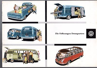 Volkswagen Transporter Split Screen 1957-58 UK Market Sales Brochure