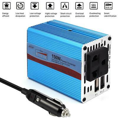 150W DC 12V à 220V AC Car Power Inverter Adapter avec convertisseur de USB EH