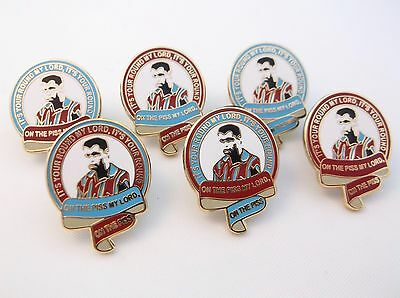 Paul Mcgraph It's Your Round My Lord, On The P**s My Lord Aston Villa Pin Badge
