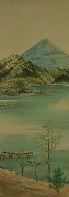 Hanging Scroll Japanese Painting Landscape Asian Art Japan Picture Antique a321