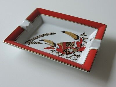Aschenbecher Porzellan France  Limoges Wempe Limitierte Auflage Tukane Ashtray