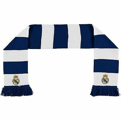 Adults Real Madrid Bar Scarf Blue/White M17