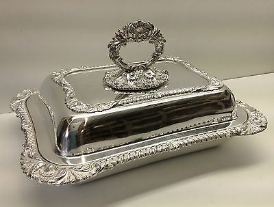 Silver Plate Large Lidded Vegetable Tureen.