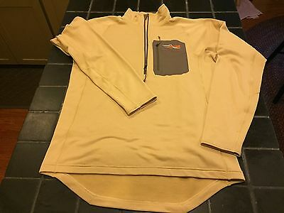 New Sitka Gear Traverse Zip-T Solid Tan, Size L, Hunting Insulation Layering Top