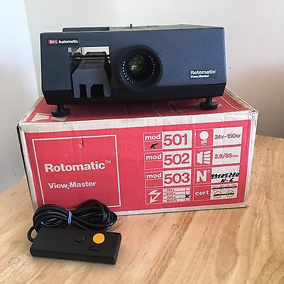 Rotomatic View-Master 501 Automatic Slide Projector Full Working Order