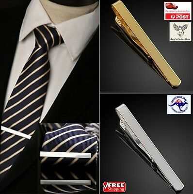 Fashion Men Silver Gold Metal Simple Practical Necktie Tie Clip Bar Clasp [A5Q]