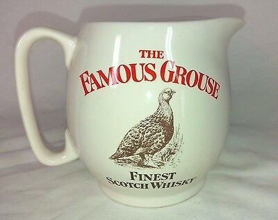 """Vintage WADE pdm """"The Famous Grouse Finest Scotch Whisky"""" Pub Water Jug"""