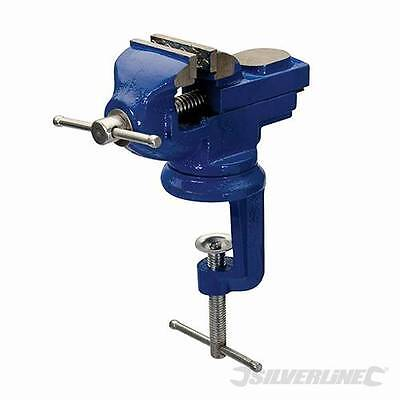 SilverLine 50mm Table Vice with Swivel Base